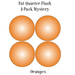 Vintage Fat Quarters- Circa  2012! Oranges- Fat Quarter Flash 4-Pack Mystery