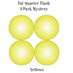 Vintage Fat Quarters- Circa  2012! Yellows- Fat Quarter Flash 4-Pack Mystery