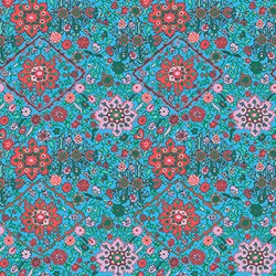 """End of Bolt - 68"""" - Soul Mate - Inner Vision - Turquoise - by Amy Butler for Free Spirit Fabrics"""