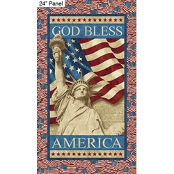 """Statue of Liberty 24"""" Panel - Stars and Stripes by Linda Ludovico for Northcott Fabrics"""