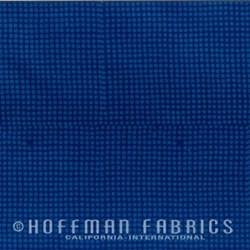 Indah Batiks by Hoffman - Raindrops - Prussian