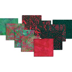 Hoffman Christmas Color Batik Fat Quarter Bundle