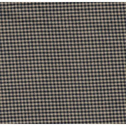 "13"" Remnant - Homespun Fabric Small  Navy/Tan Check"