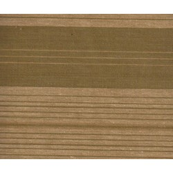 "27"" Remnant - Homespun Fabric Olive & tan stripes"