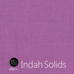 "End of Bolt - 65"" - Me + You Indah Solids - Mauve- By Hoffman Fabrics"