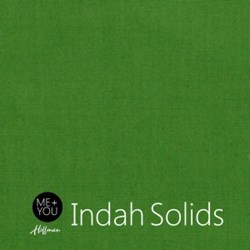 """End of Bolt - 71"""" - Me + You Indah Solids - Kelly - By Hoffman Fabrics"""