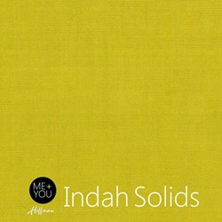 "32"" Remnant - Me + You Indah Solids - Chartreuse - By Hoffman Fabrics"