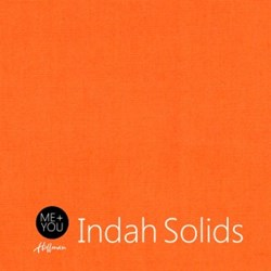 Me + You Indah Solids - Cadmium Orange - By Hoffman Fabrics