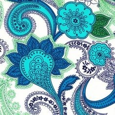 """6"""" REMnant- Alexandher Henry - Indigo Paisley in Blues"""