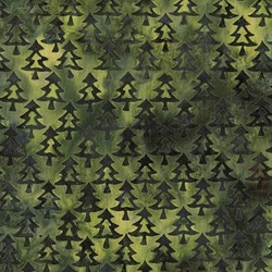 "28"" Remnant - Island Batik - Green Acres- Dark Green Tree #111503044-28"
