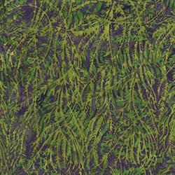 Island Batik Red Tide - Green& Purple Seaweed