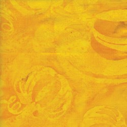 "End of Bolt - 67""- Island Batik - Equinox - Yellow/Orange Pumpkin"