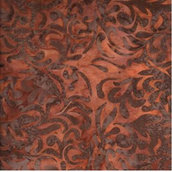 Island Batik - Equinox - Plum Leaves