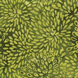 "End of Bolt - 61"" -  - Green Burst - Island Batik"