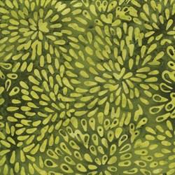 "End of Bolt - 61"" -  - Green Burst - Island Batik"