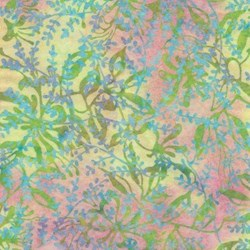 Island Batik Bright Pinks and Yellows Vines