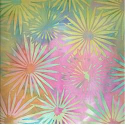Island Batik- Rainbow Flowers # KI02-H2