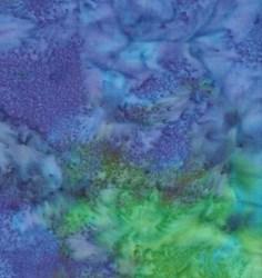 "25"" Remnant - Island Batik- Blue/Green Marble"