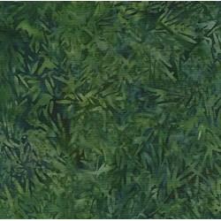 """7"""" Remnant - Island Batik Rose of Sharon - Green Etched Sea Leaves"""