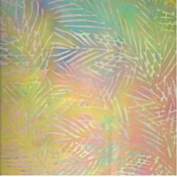 """9"""" Remnant Piece - Island Batik - Rainbow Fern"""