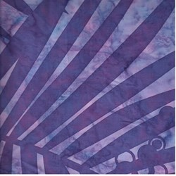 "End of Bolt - 64"" - Island Batik Purple Fern"