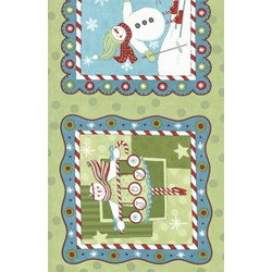 """(4) 12""""x12"""" Remants (4x pictures)-  It's Snowing Flannel - Snowday Panel"""
