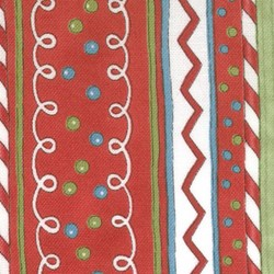 "(4) 9""x11"" Remnants -  It's Snowing Flannel - Red Muli-Stripe"
