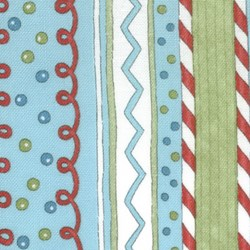 "8"" Remant -  It's Snowing Flannel - Multi-color Stripe"