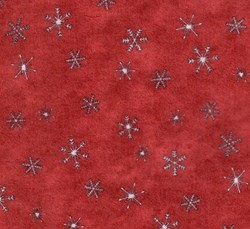 "11""x11"" Remnant -  It's Snowing Flannel - Red Snowflake"