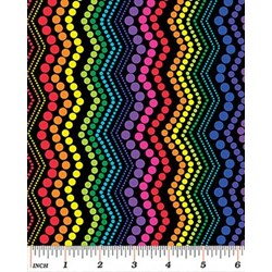 Bright Ideas Rainbow Chevron by Kanvas for Benartex #8030-12