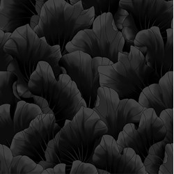 Lush - Larges Leaves in Black Tonal - by Kona Bay