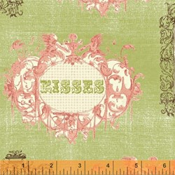 "9"" Remnant- Love & Kisses by Windham Fabrics  Fat Quarter"