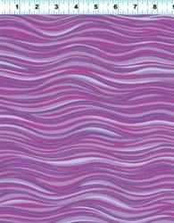 Purple Metallic Waves by Laurel Burch