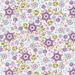 """11"""" Remnant Piece - Love Laugh Quilt - Large Purple Floral"""