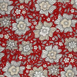 Love More -Red Floral - by P&B Textiles