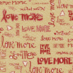 Love More -Love More Words in Red - by P&B Textiles