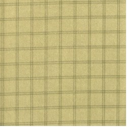 "End of Bolt - 64"" - Green Window Pane Check - Woolies Cotton Flannel"