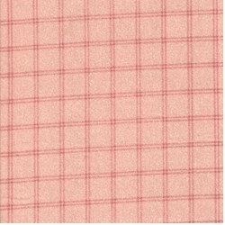 "End of Bolt - 77"" - Pink Window Pane Check - Woolies Cotton Flannel"