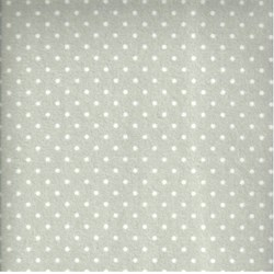 "End of Bolt - 70"" - Woolies Flannel - Gray with Cream Dots - by Maywood Studios"
