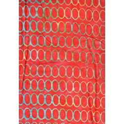 The Sweet Life Batik by Moda-Red Oval