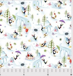 More Merriment- Winter Print- by P&B Textiles