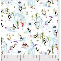 "End of Bolt - 81"" - More Merriment- Winter Print- by P&B Textiles"
