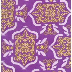"End of Bolt - 75"" - Tribal in Purple From Free Spirit Fabrics"