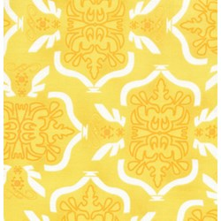 "25"" Remnant - Morning Tides - Tribal in Yellow From Free Spirit Fabrics"