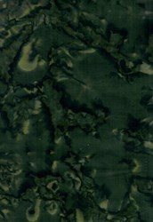 Island Batik - Dark Green Mottled