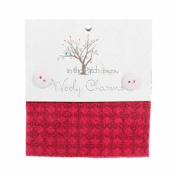 "Wooly Charm Pack - 5"" x 5"" -<br> 5 Textures Per Pack  --Purty Pink"