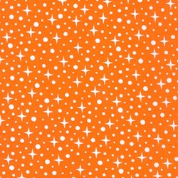 Paintbox Basics Orange Sparkles by Elizabeth Hartman for Robert Kaufman Fabrics