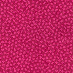 "End of Bolt - 62"" - Paintbox Basics Cerise Small Floral by Elizabeth Hartman for Robert Kaufman Fabrics"