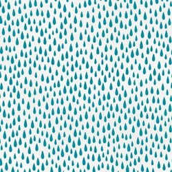 Paintbox Basics Turquoise Raindrops by Elizabeth Hartman for Robert Kaufman Fabrics