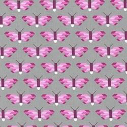 End of Bolt - Paintbox Basics Berry Butterflies by Elizabeth Hartman for Robert Kaufman Fabrics